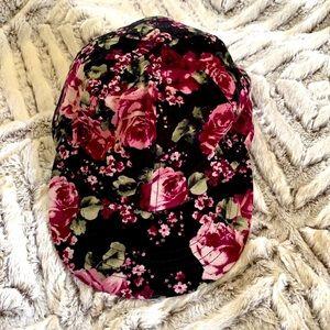 American Apparel Floral Baseball Cap